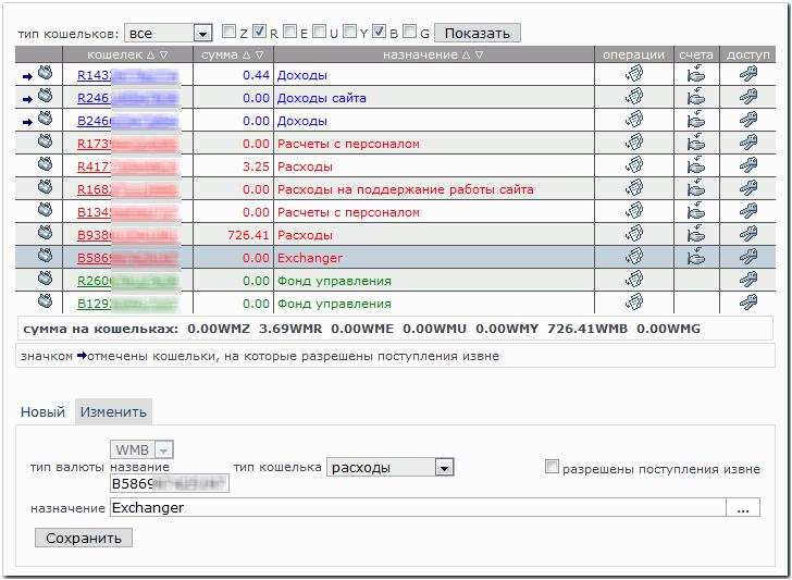Exchange operations