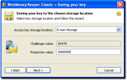 Once You Enter A Response Number And The System Authorized Your Keys Will Be Saved To E Num Storage