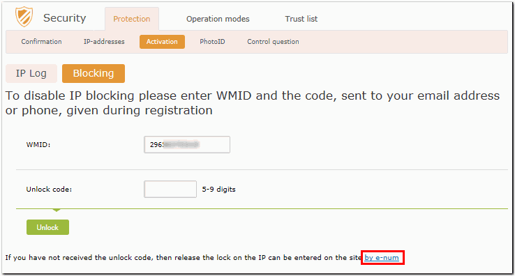 Attempt to enter from the blocked IP-address - WebMoney Wiki