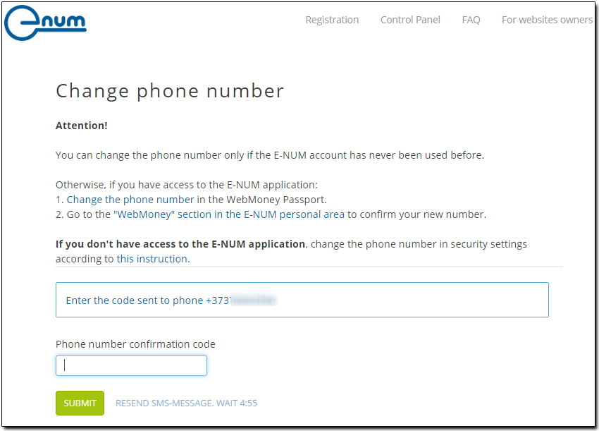 I change my phone number message