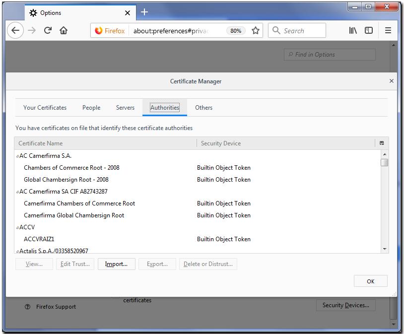 Installing root certificate in Mozilla Firefox - WebMoney Wiki