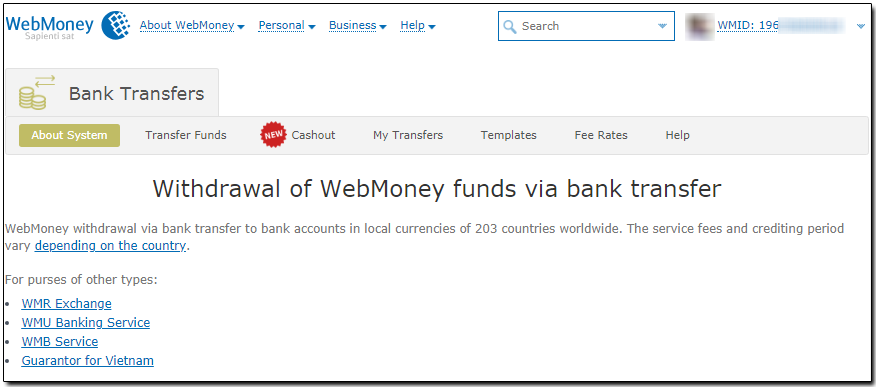 Withdrawal of WMZ via bank transfer - WebMoney Wiki