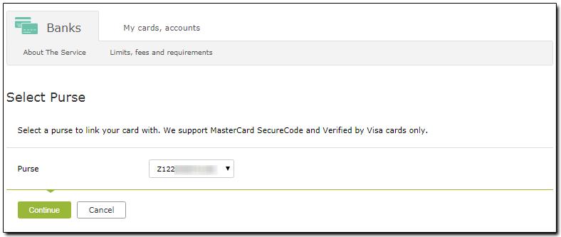 Withdraw WMZ to the linked card - WebMoney Wiki